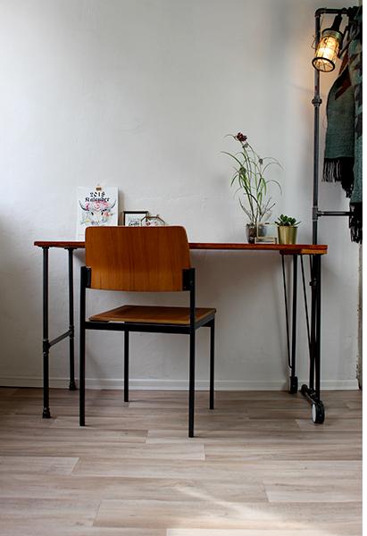 Industrial Design Tisch DIY einfach selber machen