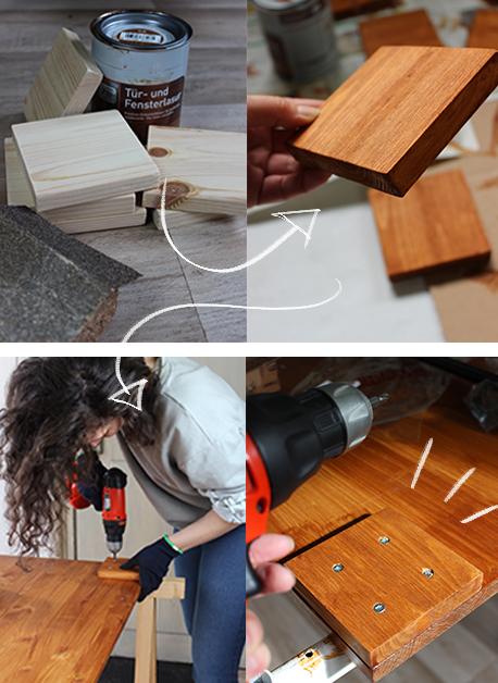 Tisch DiY selber bauen Industrial Design