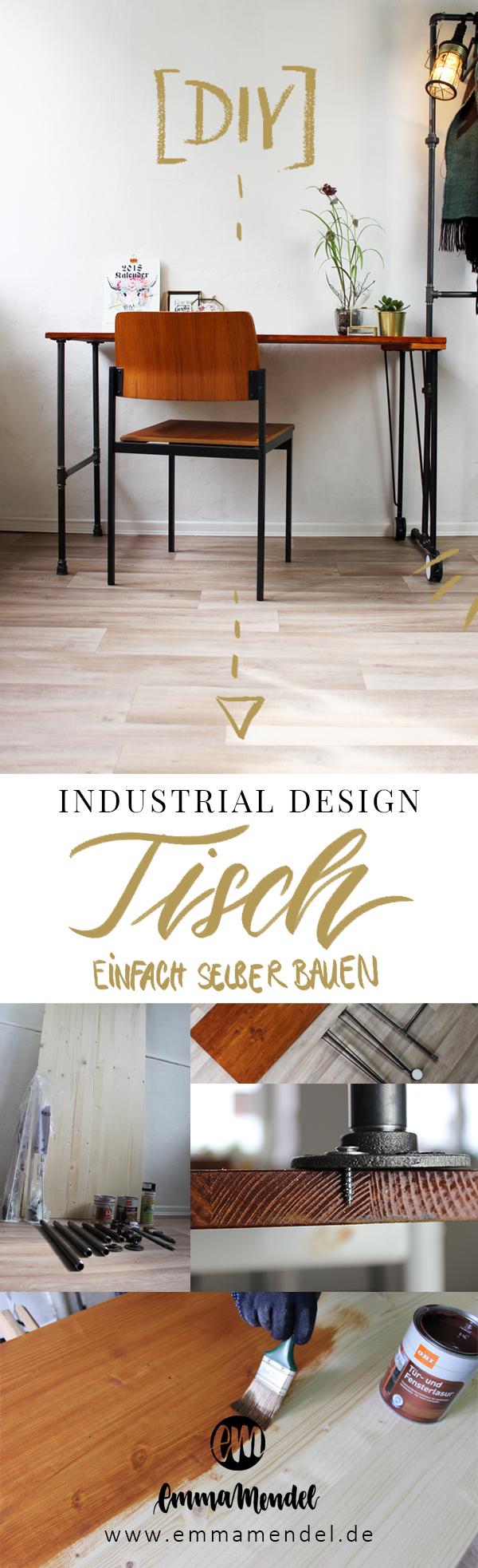 diy tisch industrial design selber bauen