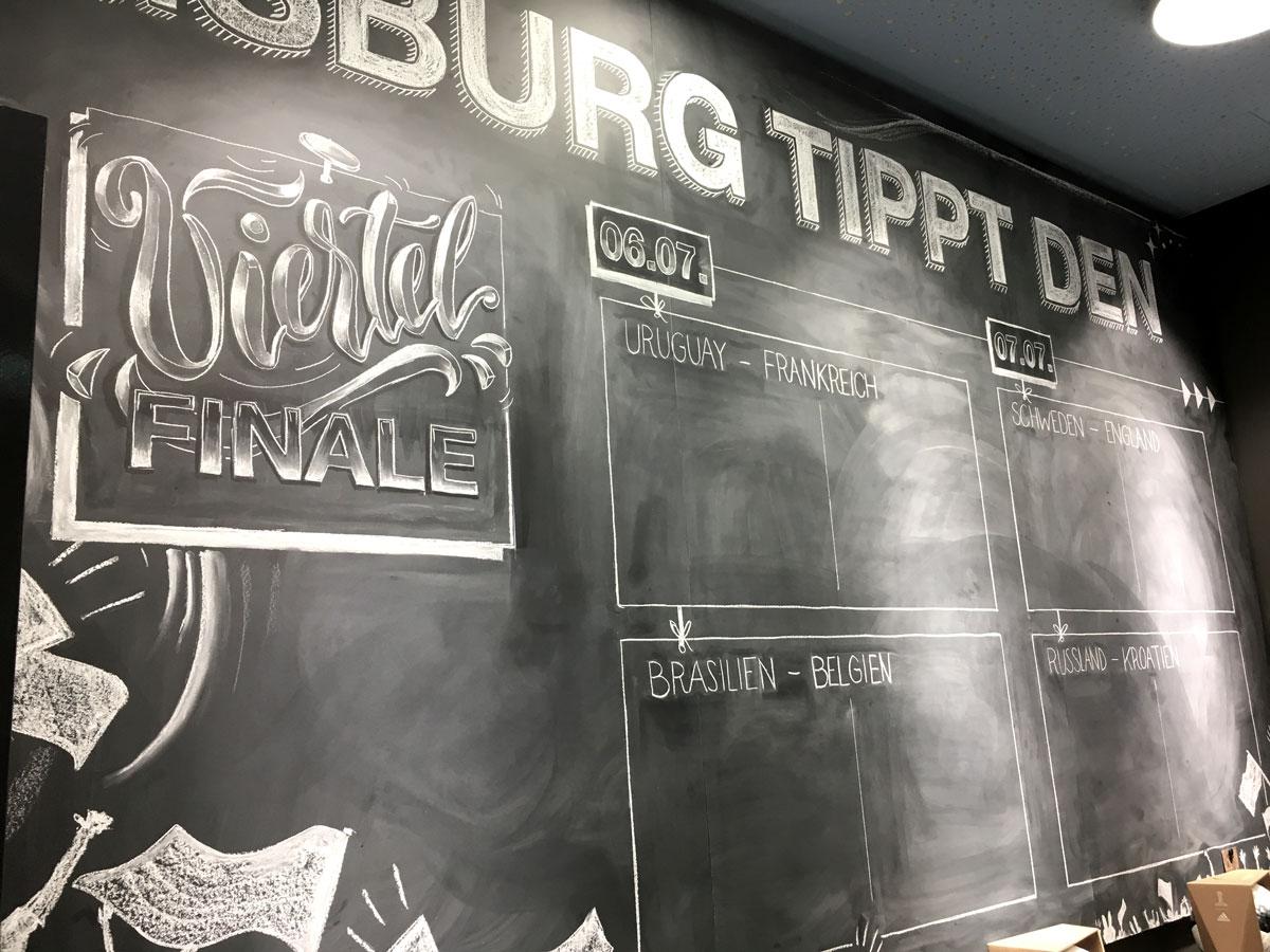 chalklettering viertel finale