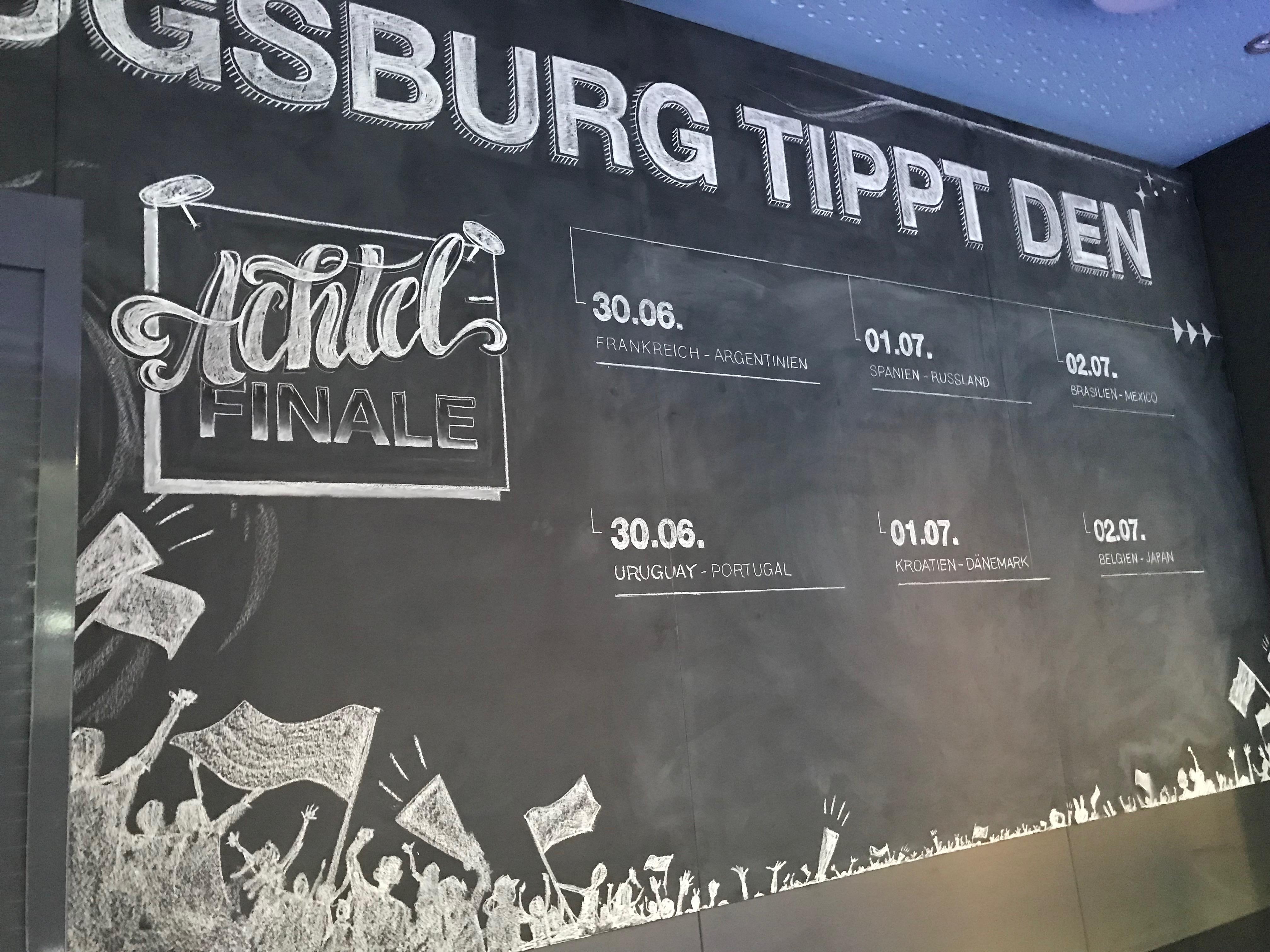 Achtelfinale lettering kreide chalk Emma mendel swa augsburg illustration