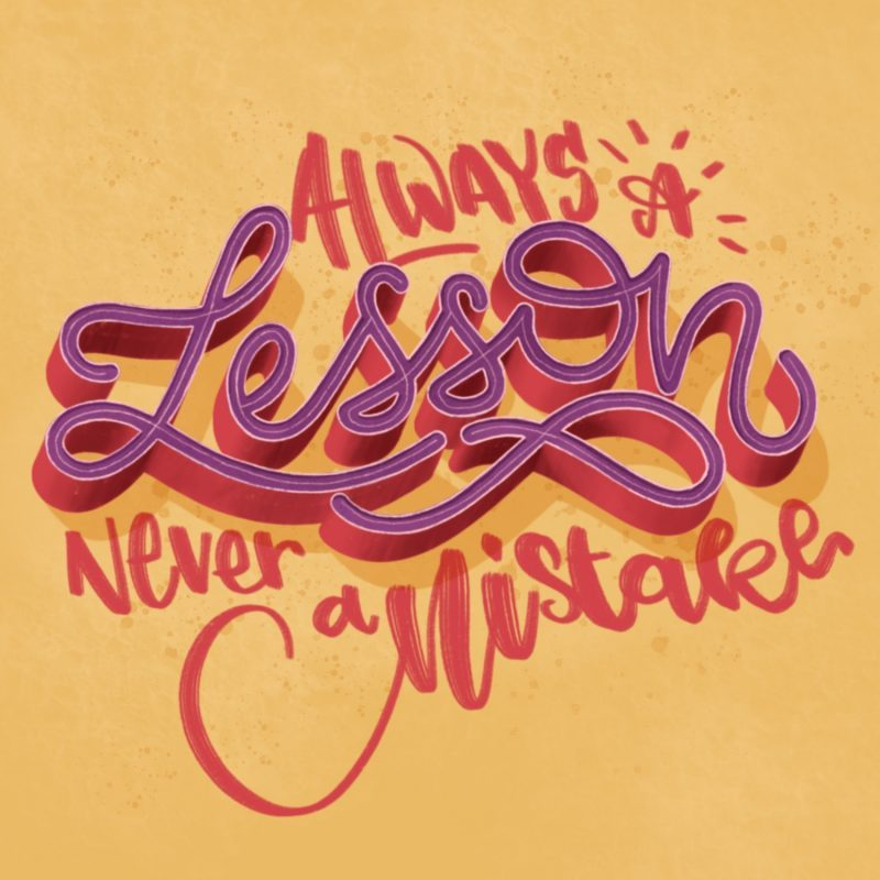 Lesson lettering Emma Mendel
