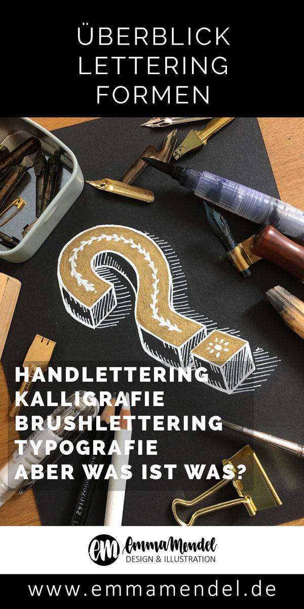 lettering formen unterschied Erklärung wissen emma mendel