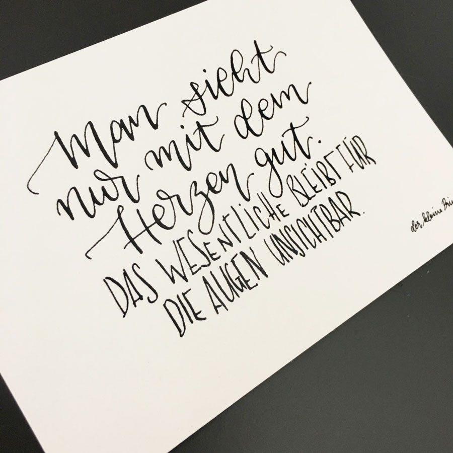 postkarte kalligrafie herzegt kl prima emma mendel