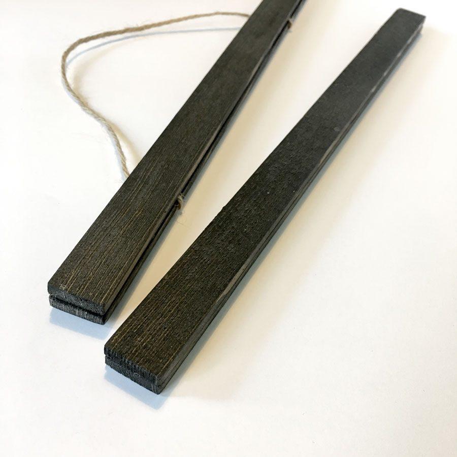 posterleisetn schwarz Handmade