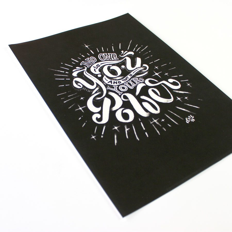 A4-print-no-one-lettering Chalklettering Emma mendel print