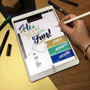 iPad Brushlettering Guide Procreate