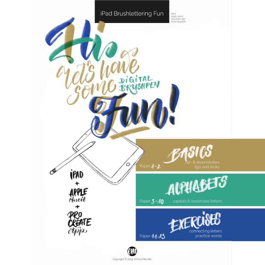 iPad brushlettering lettering fun guide Emma Mendel