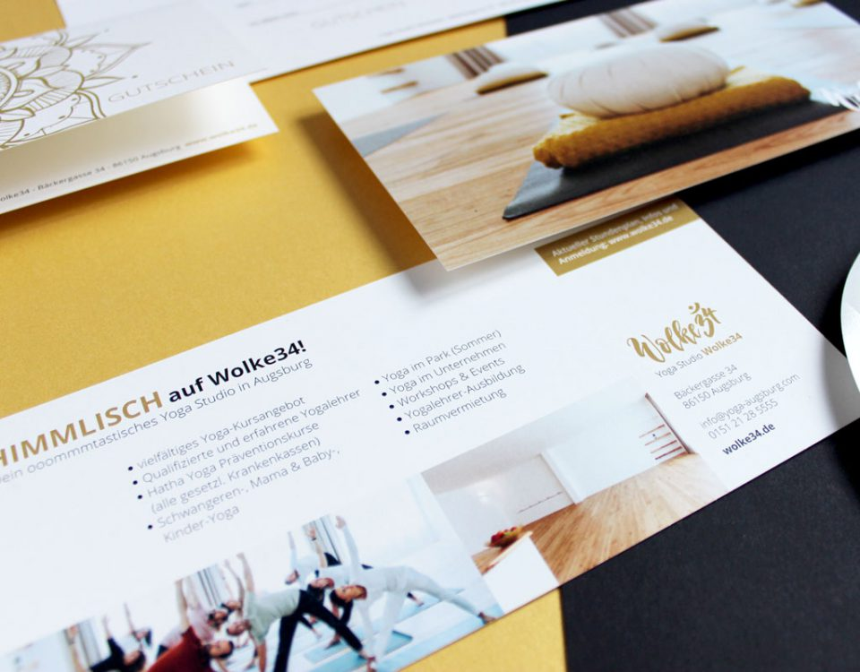 wolke34 Corporate Design Flyer logo design Grafik yoga studio
