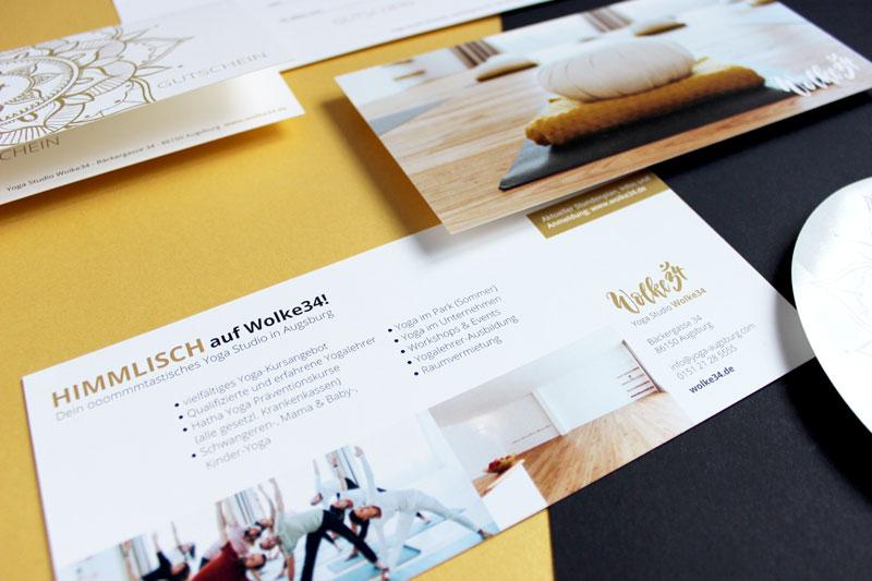 wolke34 Corporate Design Flyer logo design Grafik yoga studio