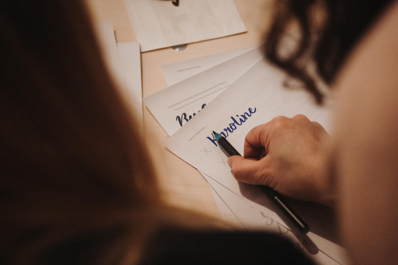 HAndlettering workshop kreativ Emma Mendel