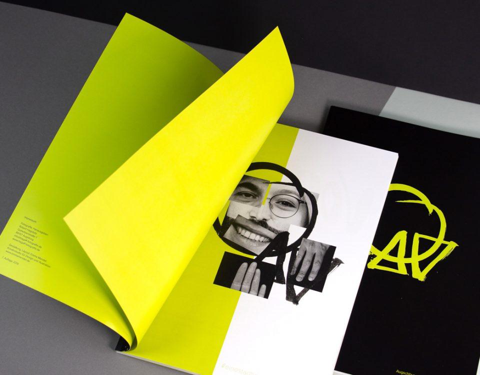 magazin lettering design fotoband editorial emma mendel grafikdesign hagaff augsburg gesicher und hände